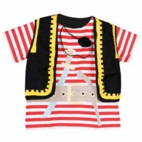 Dress up clothes - pirate (incl. top and eye patch)